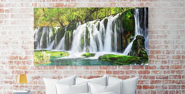 Obraz panorama z wodospadem