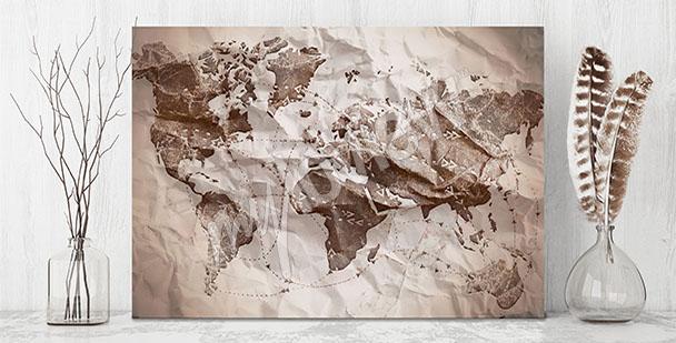 Obraz papierowa mapa