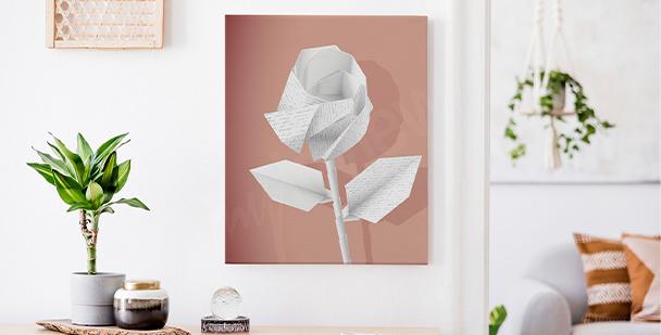Obraz papierowe kwiaty