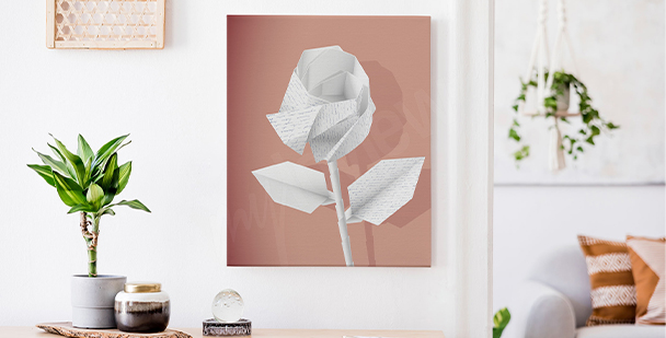 Obraz róża shabby chic