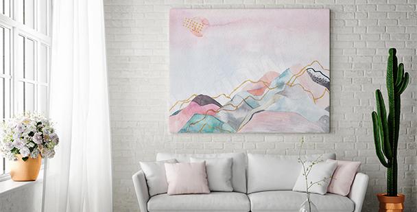 Obraz pastelowy krajobraz