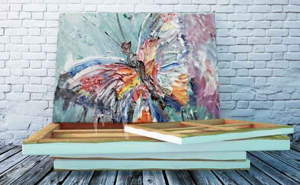 Obraz pastelowy motyl