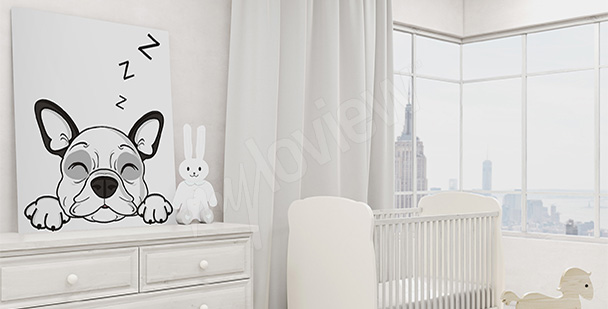 Obraz pies do pokoju chłopca
