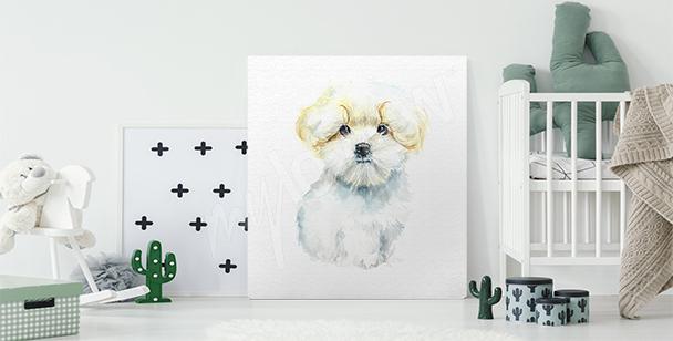 Obraz pies i kobieta