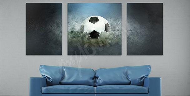 Obraz piłka na murawie