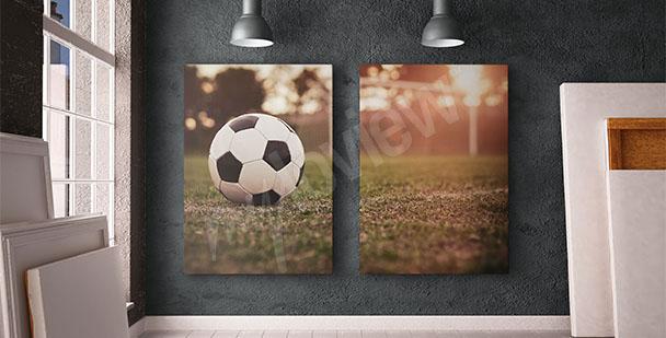 Obraz piłkarski dyptyk