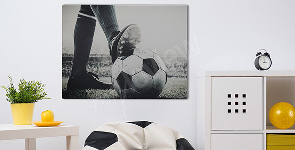 Obraz piłkarz w trakcie meczu