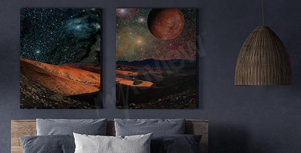 Obraz planety i góry