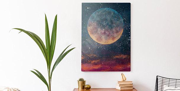Obraz planety i gwiazdy