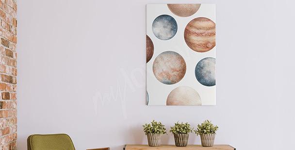 Obraz planety w akwareli