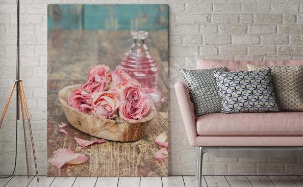 Obraz płatki róż