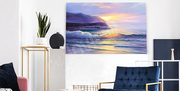 Obraz plaża o zachodzie słońca