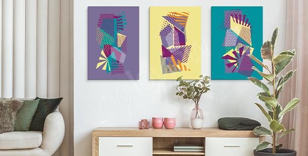 Obraz pop art w geometryczne wzory