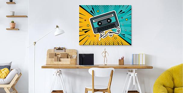Obraz pop art Wieża Eiffla