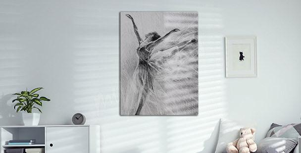 Obraz portret baletnicy