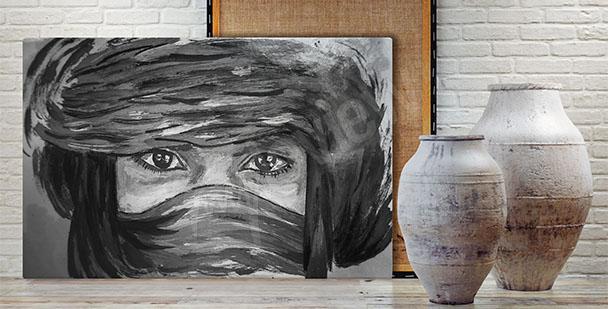 Obraz portret - Beduinka