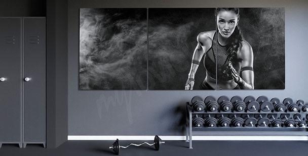 Obraz portret biegaczki