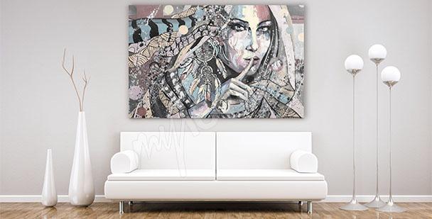 Obraz portret do salonu