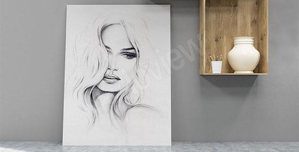 Obraz portret kobiety