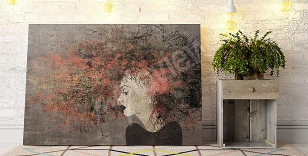 Obraz portret rudej kobiety
