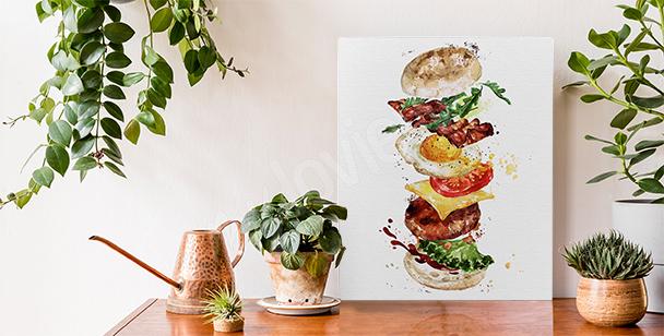 Obraz potrawy i burger