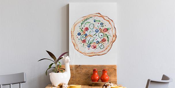 Obraz potrawy i pizza