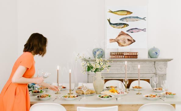 Obraz potrawy i ryby