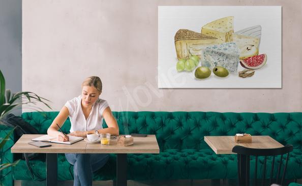 Obraz potrawy i sery