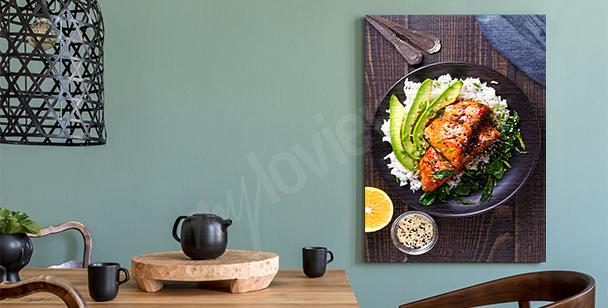 Obraz potrawy na talerzu