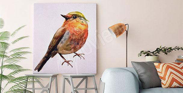 Obraz ptak akwarela