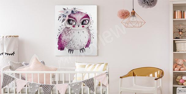 Obraz ptak do pokoju dziecka