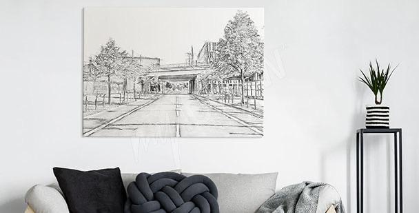 Obraz pusta ulica