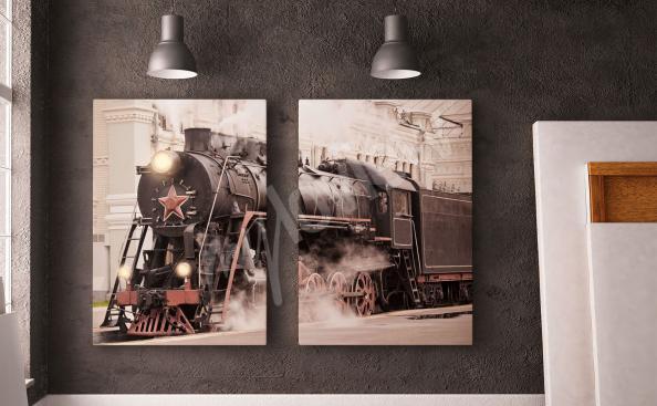 Obraz retro pociąg