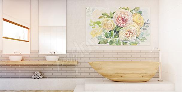 Obraz romantyczny bukiet kwiatów