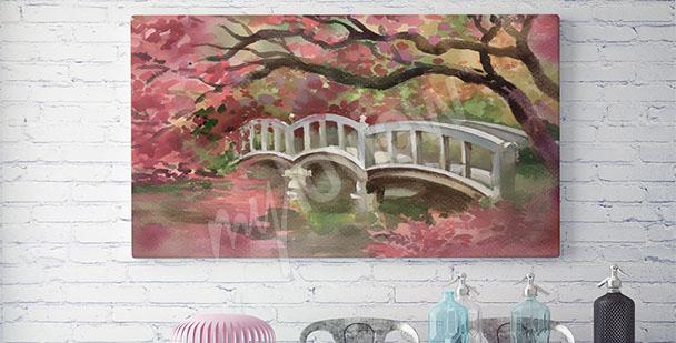 Obraz romantyczny mostek