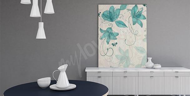 Obraz romantyczny motyw kwiatów