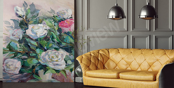 Obraz róże malowane