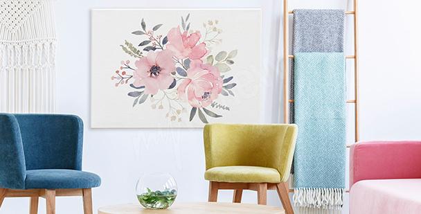 Obraz róże w bukiecie