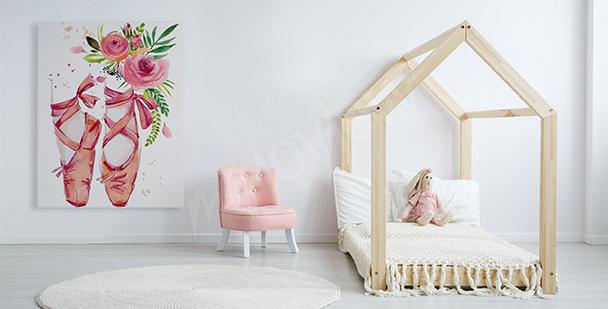 Obraz różowe baleriny