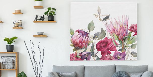 Obraz kwiaty vintage