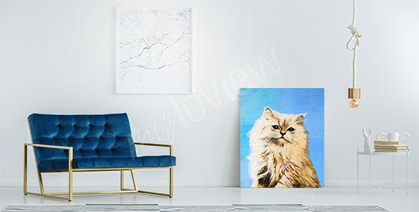 Obraz szary kot do przedpokoju