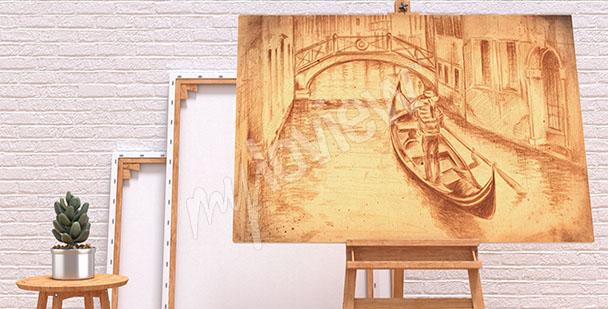 Obraz Wenecja rysunek