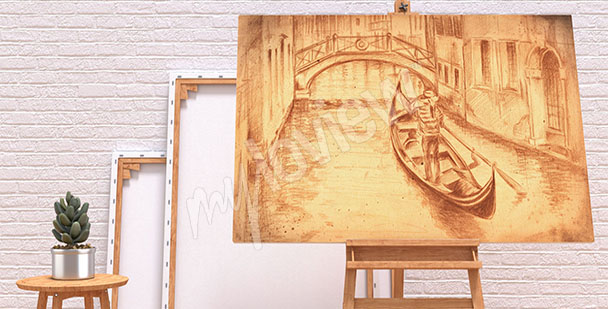Obraz rysunek Wenecji