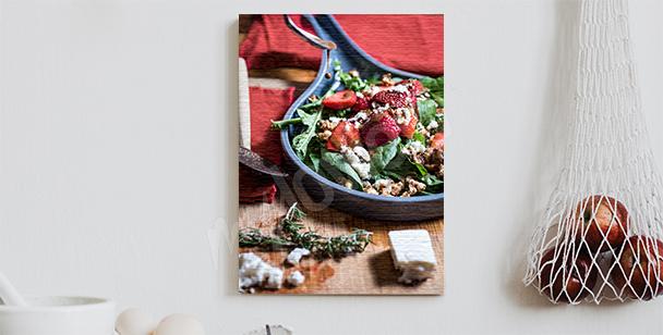 Obraz sałatka z truskawkami