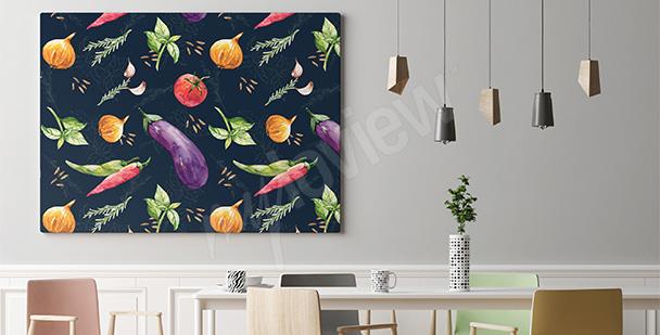 Obraz ścienny warzywne inspiracje