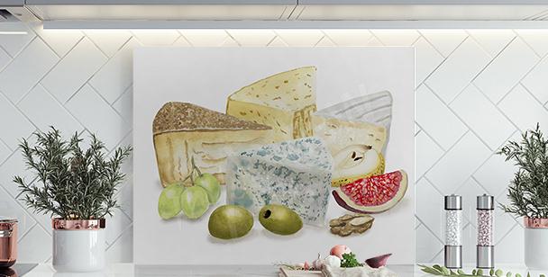 Obraz ser i owoce