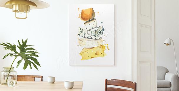 Obraz ser w akwareli