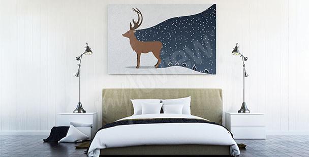 Obraz skandynawski do sypialni