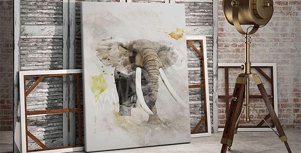 Obraz słoń do przedpokoju