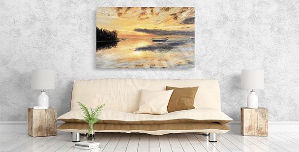 Obraz słońce nad rzeką